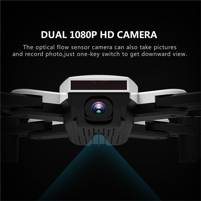 2.4G  WiFi FPV RC Quadcopter Drone with 2.0MP Optical Flow Dual Camera - Cards and Gadgets