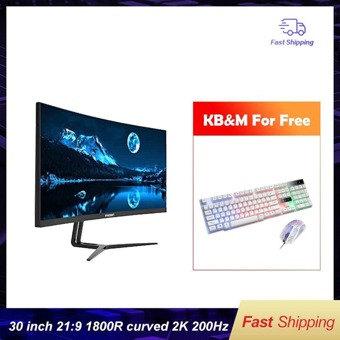 Ipason Gaming Monitor Qr302w 30-inch 2k/highly Refresh Rate 200hz Display Widescreen 21:9 - Cards and Gadgets
