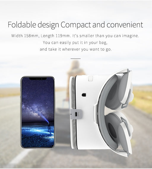 Z6 Upgrade 3D Glasses VR Headset Google Cardboard Bluetooth Virtual Reality Glasses Wireless VR Helmet For Smartphones - Cards and Gadgets