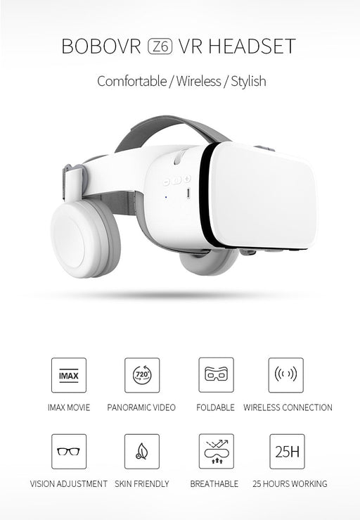 Z6 VR 3D Glasses Virtual Reality Mini Cardboard Helmet VR Glasses Headsets BOBO VR for 4.7-6.2 inchs Mobile Phone - Cards and Gadgets