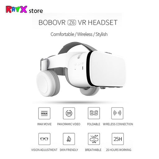 Bobovr Z6 VR 3D Glasses Virtual Reality Mini Cardboard Helmet VR Glasses Headsets BOBO VR for 4-6 inch Mobile Phone - Cards and Gadgets