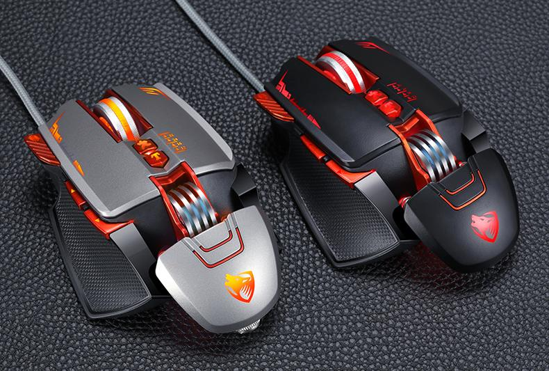 Dragon V9 8 Buttons DPI Adjustable LED PRO Gaming Mouse - Cards and Gadgets