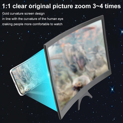 "12"" Portable Mobile Phone Curved HD Screen Amplifier - Cards and Gadgets"