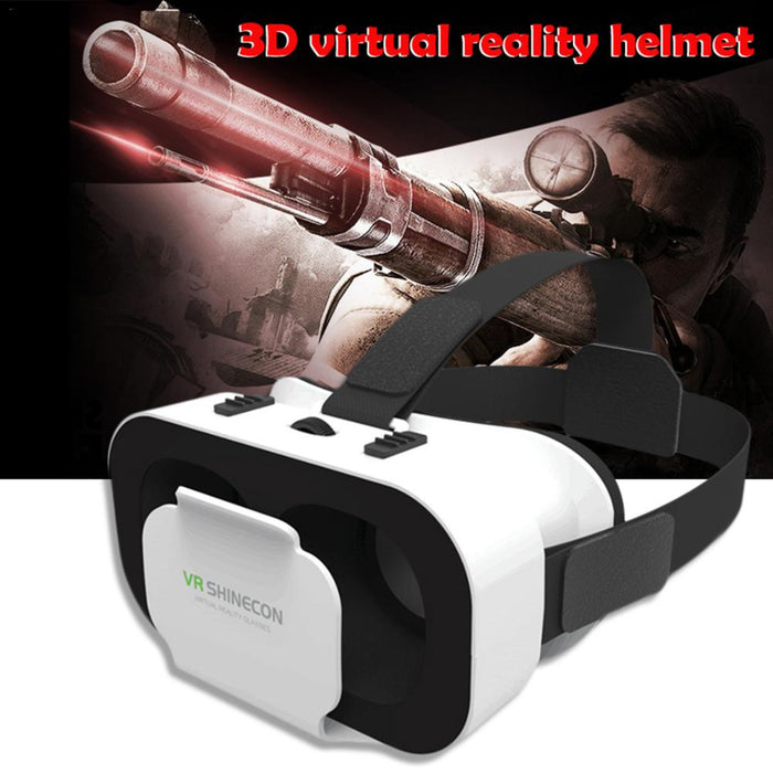 Portable 3D VR Glasses 5th Generations 3D Cardboard Helmet Virtual Reality VR Glasses With Stereo Headphones for Mobile Phone - Cards and Gadgets