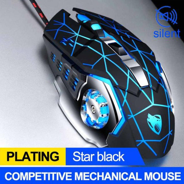 Professional 8D  8D 3200DPI Adjustable Wired Optical LED Gaming Mouse - Cards and Gadgets
