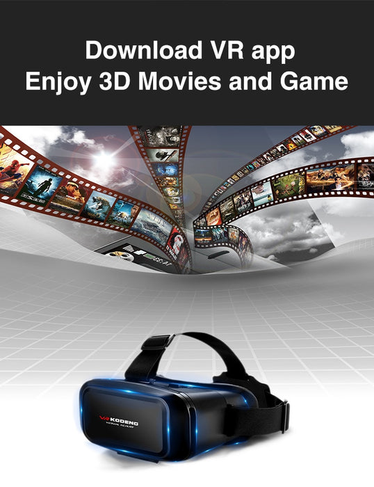 Original 3D Virtual Reality VR Glasses Support 0-600 Myopia Binocular 3D Glasses Headset VR for 4-7 Inch IOS Android Smartphone - Cards and Gadgets