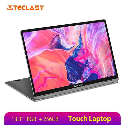13.3 inch Notebook Gemini Lake 8GB LPDDR4 256GB SSD Windows 10 Laptop 360° Rotation Touch Tablet - Cards and Gadgets