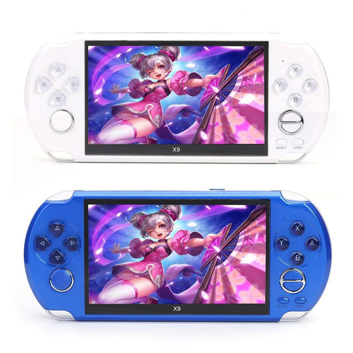 X9 5 inch Handheld Game Console 8GB Built-in 3000 Classic Games Console Large Screen Retro Video Game Player - Cards and Gadgets