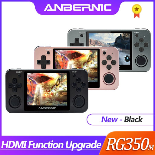 HDMI ANBERNIC Retro game RG350 Video games Upgrade game console ps1 game 64bit opendingux 3.5 inch 2500+ games RG350m Child gift - Cards and Gadgets