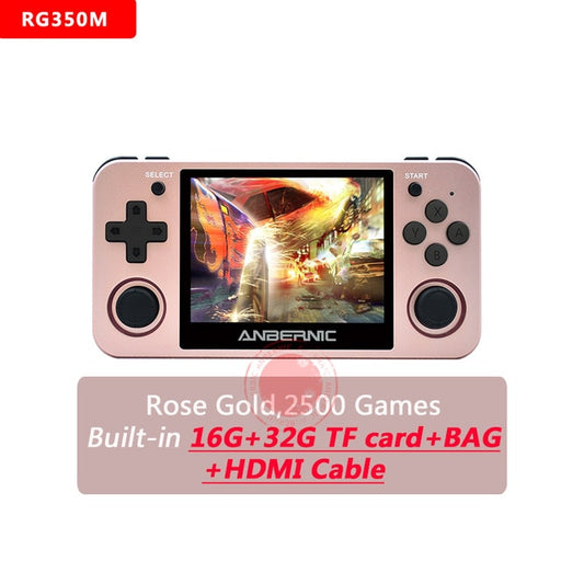 ANBERNIC RG350M Retro Games Aluminum Alloy IPS Screen PS1 gift Video Games console Emulators Handheld Game Player RG350 HDMI TV - Cards and Gadgets