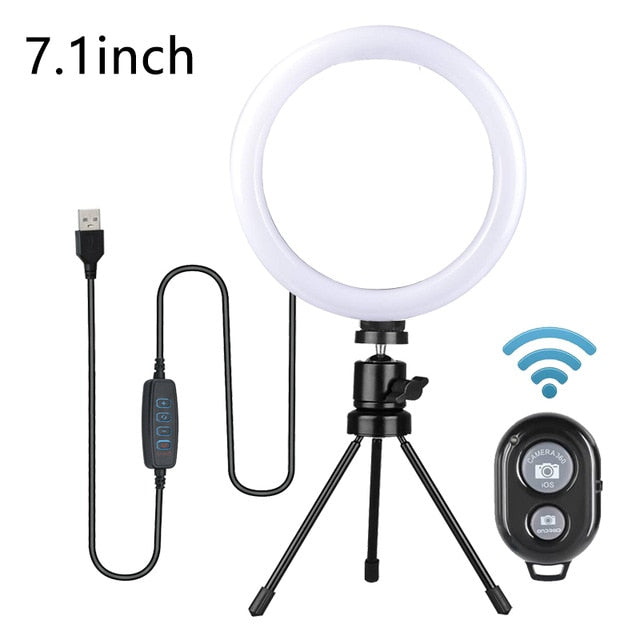 Kohree Dimmable LED Selfie Ring Light with Tripod Stand - Free Shipping! - Cards and Gadgets