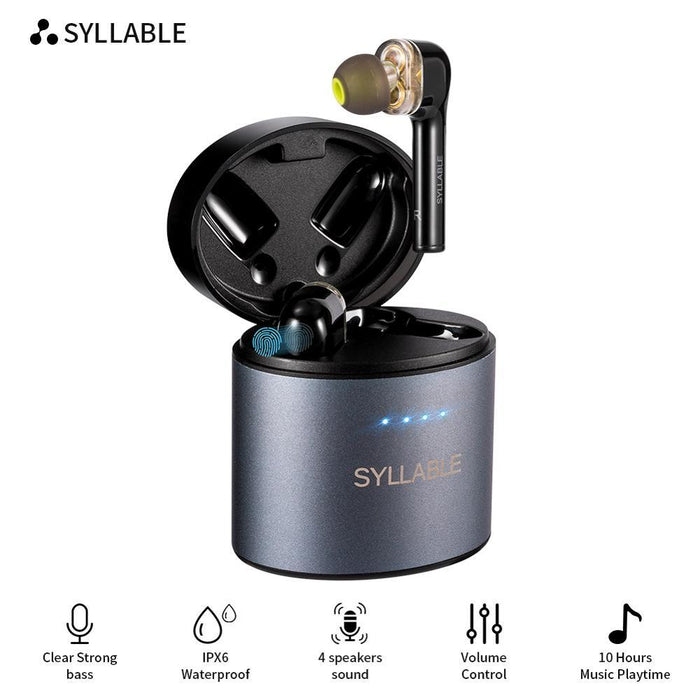 Original SYLLABLE S119 bluetooth V5.0 bass earphones wireless headset noise reduction SYLLABLE S119 Volume control earbuds - Cards and Gadgets