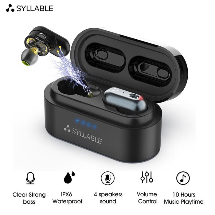 Original SYLLABLE S101 bluetooth V5.0 bass earphones wireless headset noise reduction SYLLABLE S101 Volume control earbuds - Cards and Gadgets