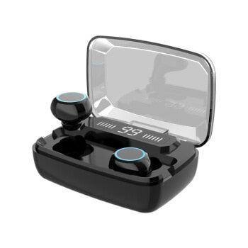 Wireless Earphones Bluetooth V5.0 TWS Wireless Bluetooth Headphones LED Display With 3300mAh Power Bank Headsets With Microphone - Cards, Collectibles and Gadgets - CCG LLC