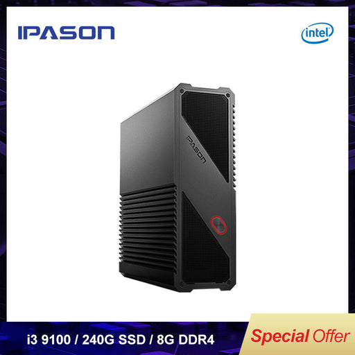 IPASON Gaming Mini PC 9th Gen Intel i3 9100 8GB DDR4  RAM 240G SSD - Cards and Gadgets