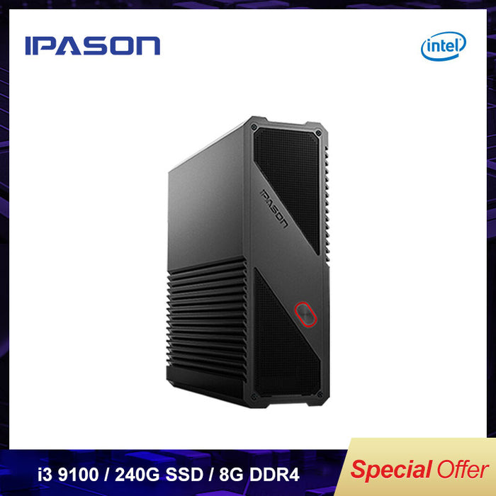 IPASON Gaming Mini PC 9th Gen Intel i3 9100 8GB DDR4  RAM 240G SSD - Cards, Collectibles and Gadgets - CCG LLC