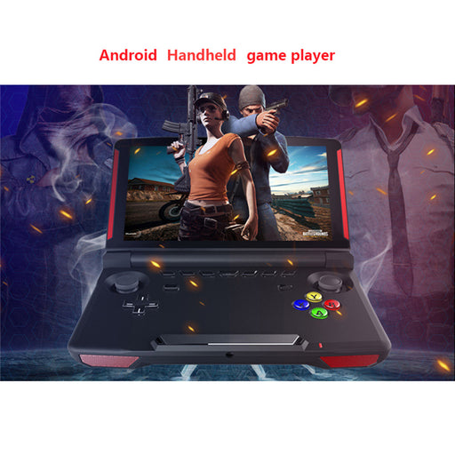 X18 Handheld Game Players 5.5 inch Touch Screen Android 7.0 Quad core 2G RAM 16G ROM Video Gaming Console 360 Rotatable Rocker - Cards and Gadgets