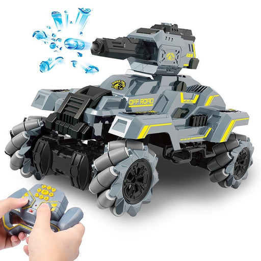 2.4G remote control tank car drifting water bomb tank remote control car assault battle gesture induction tank car - Cards and Gadgets