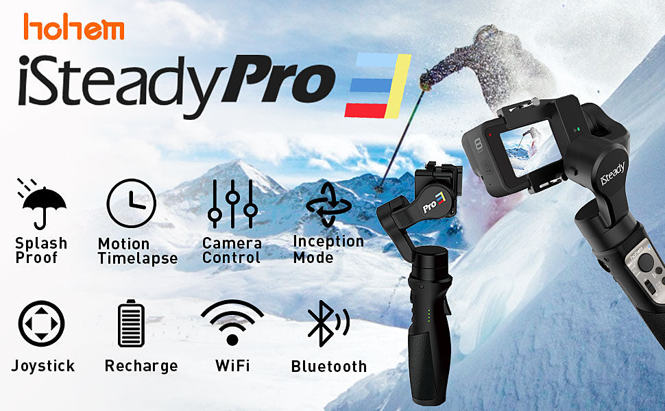 iSteady Pro 3 3-Axis Gimbal Stabilizer for GoPro 8 - Cards, Collectibles and Gadgets - CCG LLC