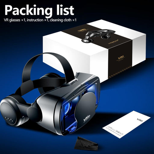 Full Screen VR Glasses  Durable Virtual Reality Glasses with A Large Headset for 5 to 7 inch Smart Phone with Detachable Frame - Cards and Gadgets