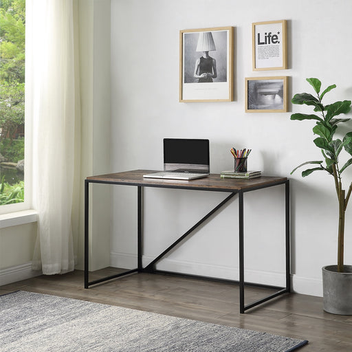 46-Inch Home Office Computer Desk Furniture Small Desk Home Office Study Desk Metal Frame Modern Simple Laptop Table Study Table - Cards and Gadgets