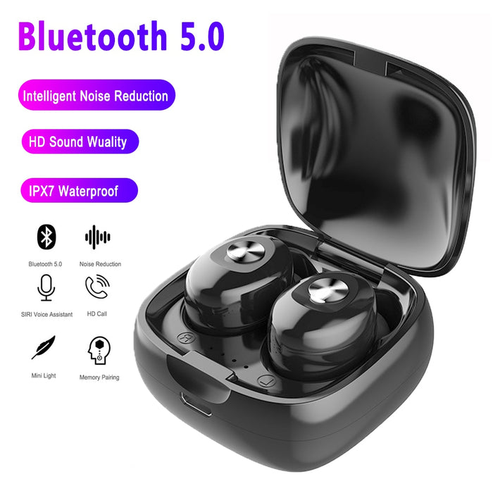 LUPHIE TWS 5.0 Bluetooth Earphone Stereo Wireless Earbuds HIFI Sound Sport Earphones Earpieces Gaming Headset with Mic - Cards, Collectibles and Gadgets - CCG LLC