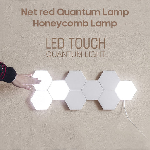 RGB Touch Sensor Quantum Light Honeycomb Lamp Wall Lamp LED Night Light Splicing Combination Smart Light Usb Solar Light - Cards and Gadgets