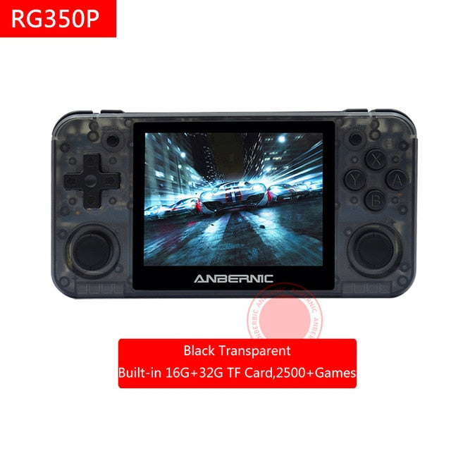ANBERNIC RG351 RG350P RG350M Retro Game Video game IPS Screen Built-in 2400 games console portable handheld PS1 RG351P RG351 64G - Cards and Gadgets