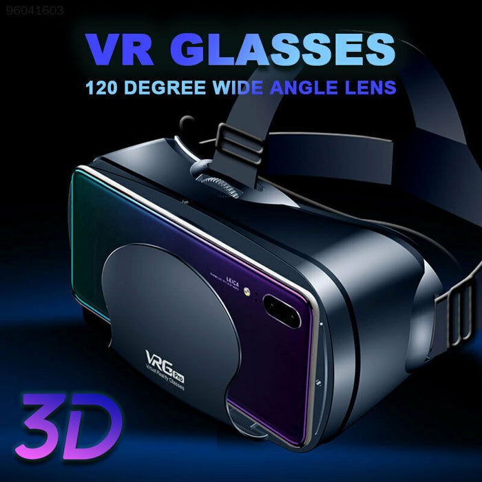 3D VR Glasses Virtual Reality for Goggles VRG PRO for Android iOS 5~7inch Smartphone with Gamepad - Cards, Collectibles and Gadgets - CCG LLC