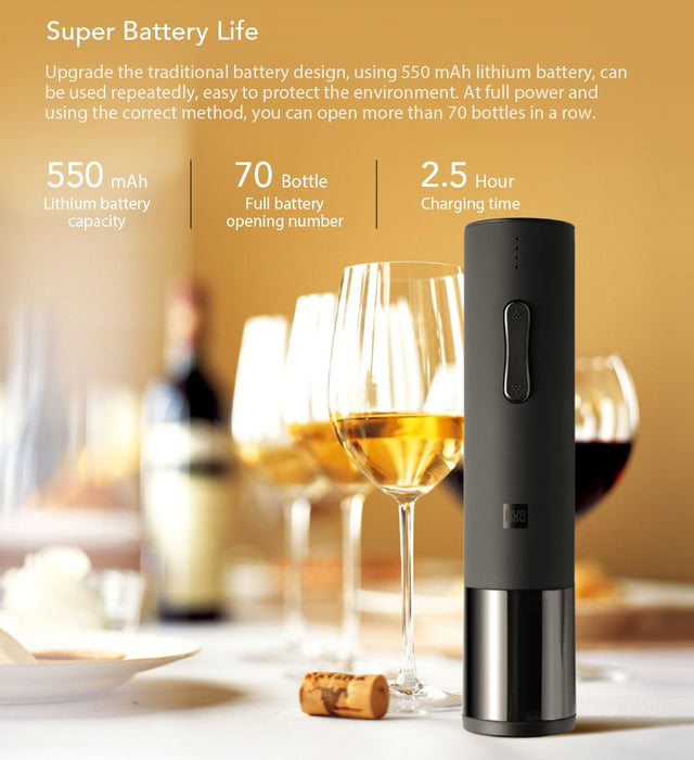 Electric Wine Bottle Opener - Cards and Gadgets