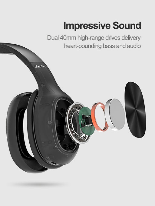 HD901 Bluetooth V5.0 Headphones Wireless Earphone Over-earHeadset Support TF Card with Mic For PC MP3 Phone - Cards and Gadgets