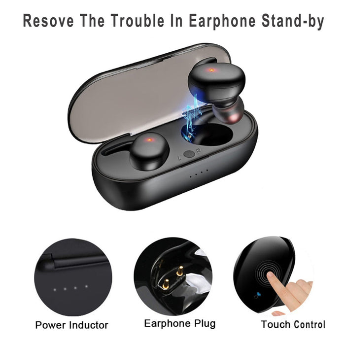Y30 TWS Bluetooth 5.0 Wireless In-ear Noise Reduction Stereo Earphones Earbuds - Cards and Gadgets