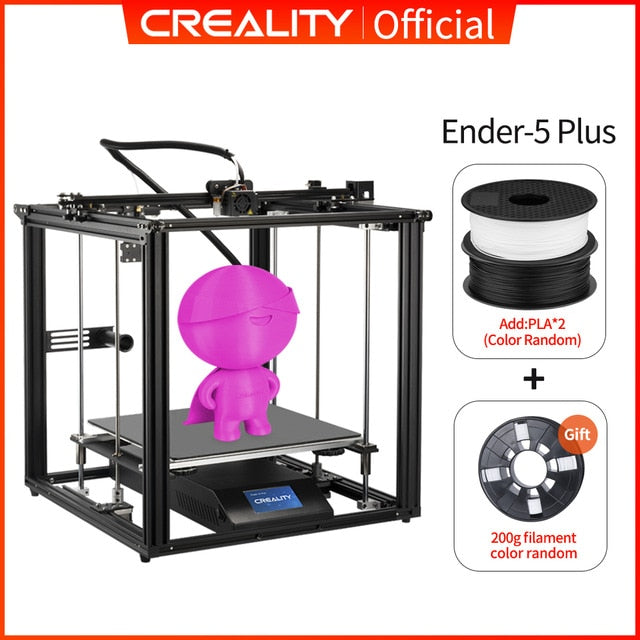 CREALITY 3D Printer Ender-5 Plus Dual Y-axis Motors Glass Build Plate Power off Resume Printing Masks Enclosed Structure - Cards, Collectibles and Gadgets - CCG LLC