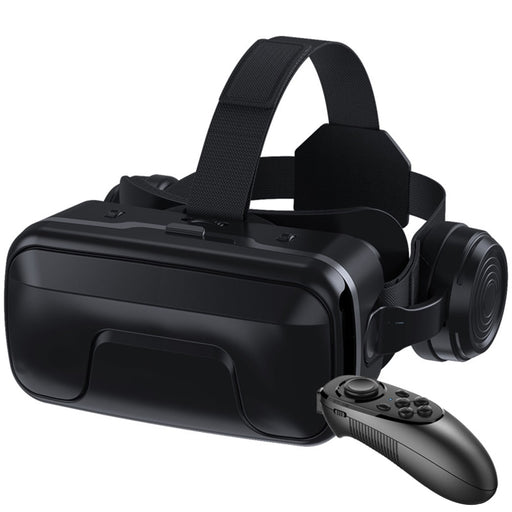 Giant Screen Optical Lens Detachable Headset Type VR Glasses With Gamepad Universal Ergonomic PU Leather Games 3D Movies For IOS - Cards and Gadgets