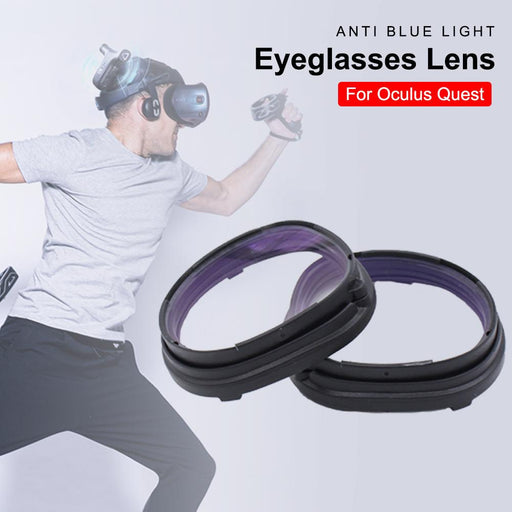 VR-Glasses Accessories Blue Light Blocking Lens Replaceable Eyeglasses Accessories with Frame Protection for Oculus Quest - Cards and Gadgets