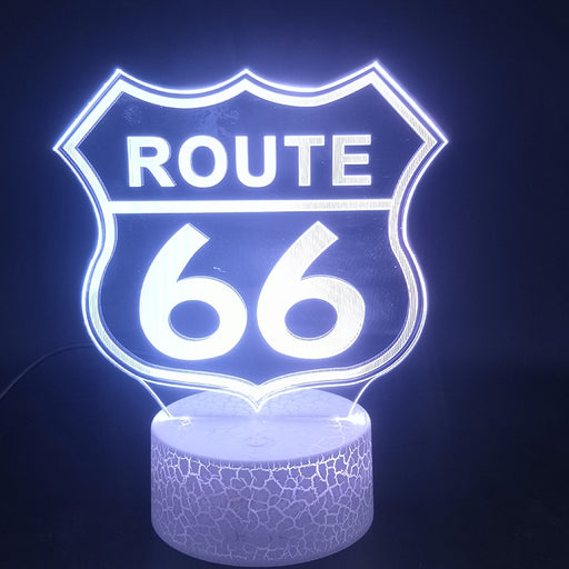 Route 66 Led Night Light for Party Home Decoration Gadget Will Rogers Highway Kids Bedroom 3D Table Lamp Smart Phone Control - Cards and Gadgets