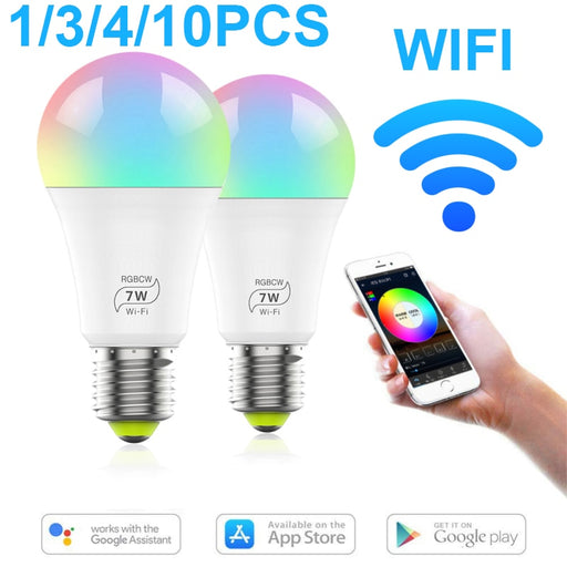Smart Home LED Bulb Colorful+Cold Light+Warm Light 500 Lumens 7W E27 Magic Home APP Remote Control Work With Alexa Google Home - Cards and Gadgets