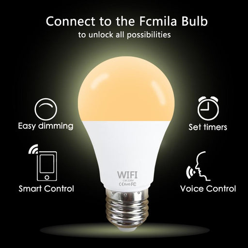 15W Wifi Smart Light Bulb RGB White Magic Lamdimmable LED E27 B22 Wifi Bulb Compatible APP Control LED Light For Home Decoration - Cards and Gadgets