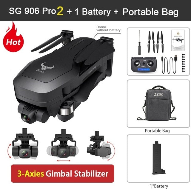 SG906 PRO drone and GPS 4K 5G WIFI 3 axis gimbal dual camera professional ESC 50X zoom brushless quadcopter RC Dron - Cards, Collectibles and Gadgets - CCG LLC