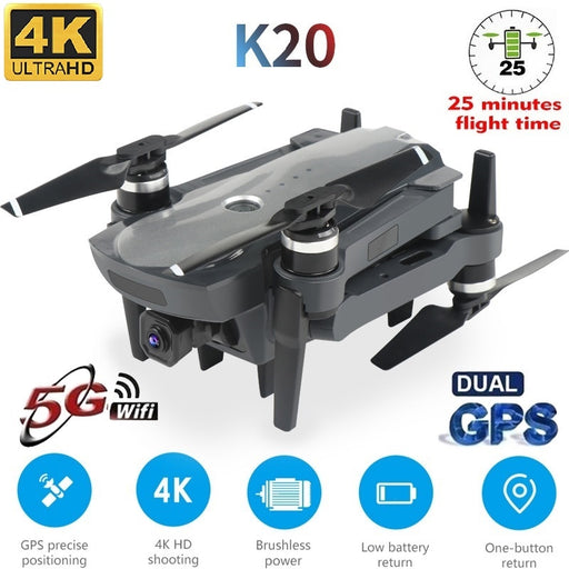 LSRC K20 Drone GPS 5G HD 4K Camera Professional 1800m Image Transmission Brushless Motor Foldable Quadcopter RC Dron Toy Gift - Cards and Gadgets