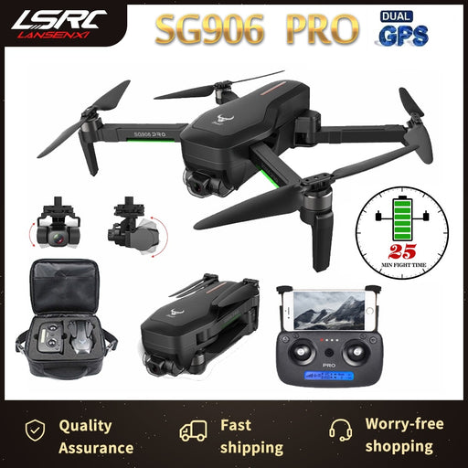 SG906 PRO drone and GPS 4K 5G WIFI 3 axis gimbal dual camera professional ESC 50X zoom brushless quadcopter RC Dron - Cards and Gadgets