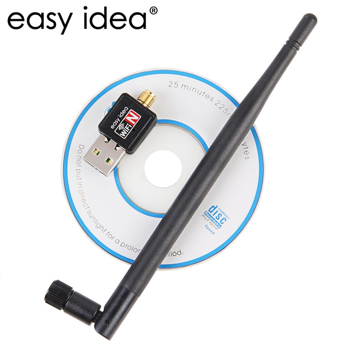 Wireless WiFi Adapter 5dB Wi-Fi Antenna 150Mbps Lan Wireless Network Card Portable USB WiFi Receiver Adaptador WiFi 802.11b/g/n - Cards and Gadgets