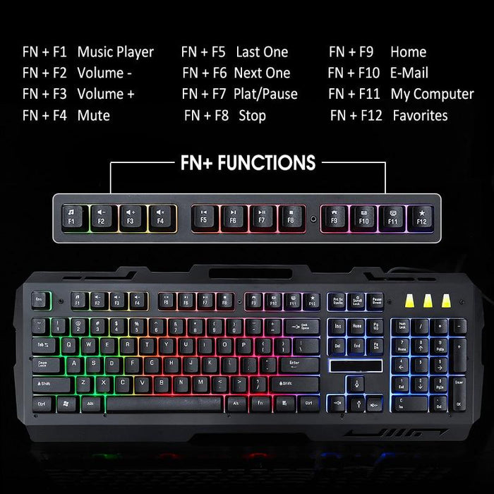 Ninja Dragons Premium NX900 USB Wired Gaming Keyboard and Mouse Set - Cards and Gadgets