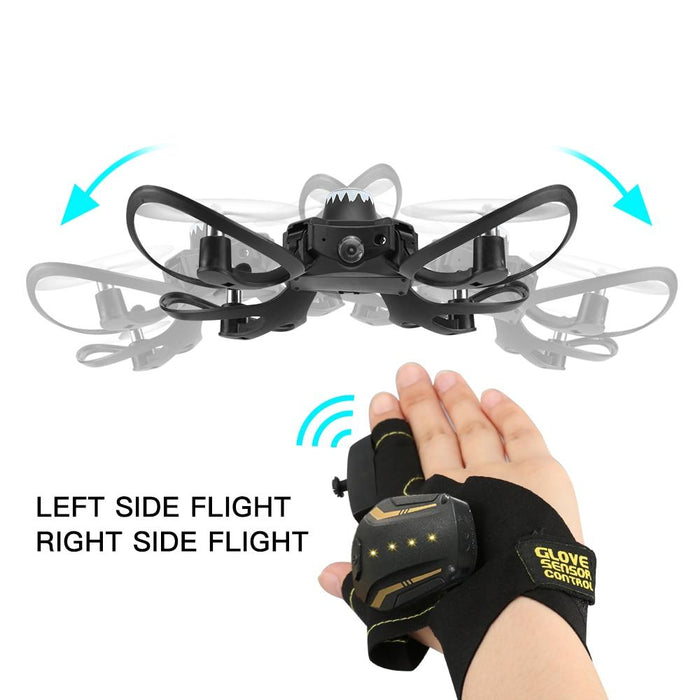 Ninja Dragons Glove Control Quadcopter Mini Drone with 480P Camera - Cards and Gadgets