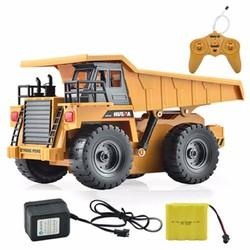 HuiNa Toys1540 Six Channel 1/18 RC Metal Dump Truck Charging RC Car - Cards and Gadgets