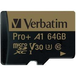 Verbatim 70002 64 Gb Pro plus 666x Microsdxc Memory Card with Adapter - Cards, Collectibles and Gadgets - CCG LLC