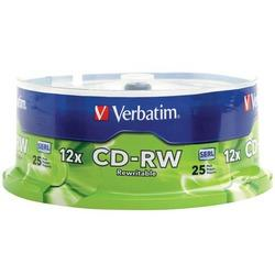 Verbatim 95155 700mb 80-minute 4x-12x High-speed Cd-rws, 25-ct Spindle - Cards, Collectibles and Gadgets - CCG LLC