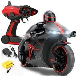 ZhengCheng 333-MT01B 2.4G 20km/h Rc Car Motorcycle 30 Degree 24.4*12.7*14cm With Flashlight - Cards and Gadgets