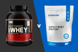 ON Gold Standard Whey vs MyProtein Impact Whey