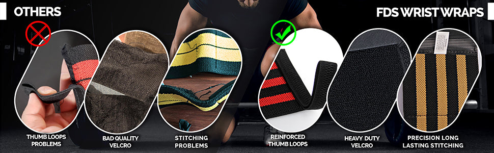 Premium Weight-Lifting Wrist Wraps in more details